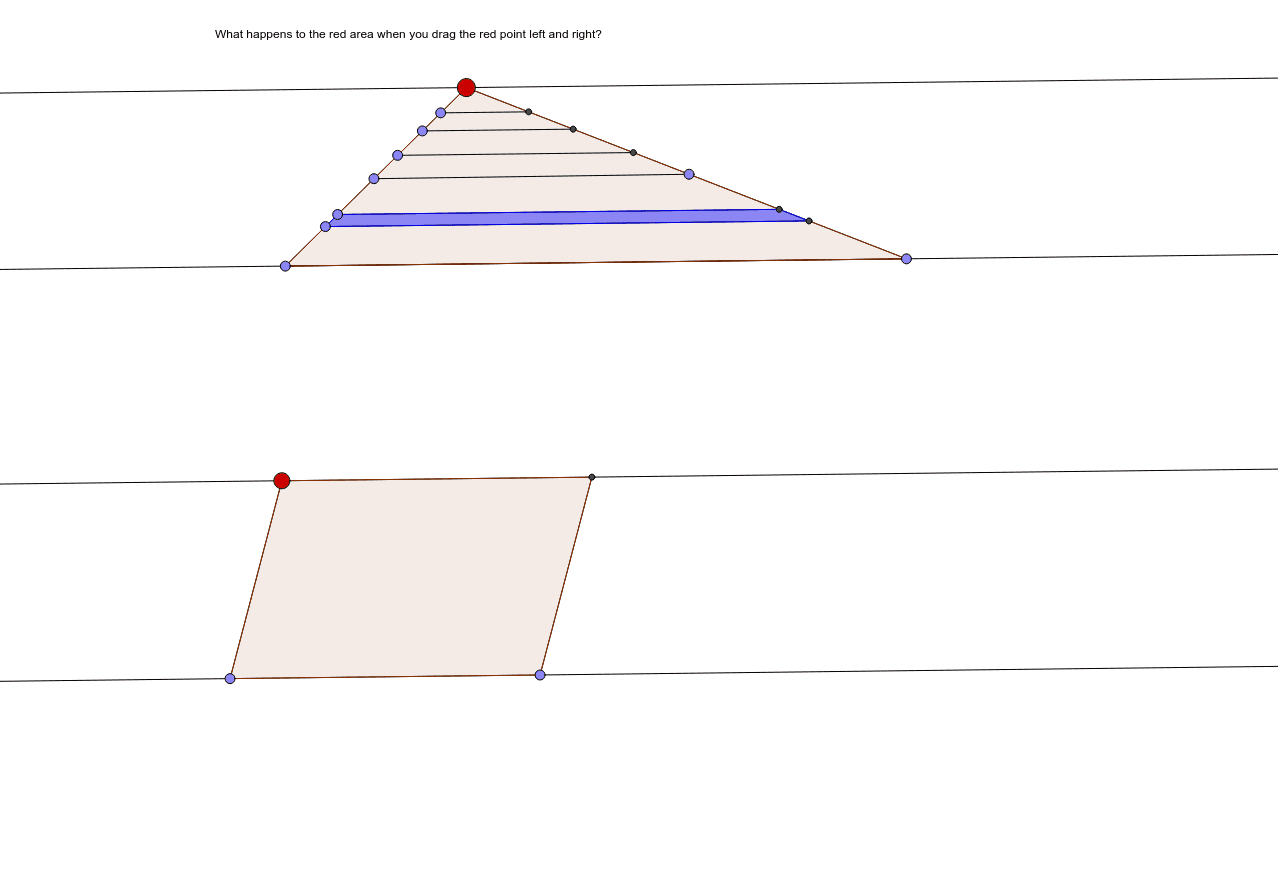 Shearing A Triangle And A Parallelogram Geogebra