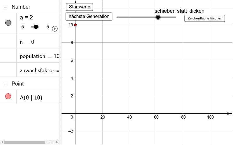 Exponentielle Abnahme Drücke die Eingabetaste um die Aktivität zu starten