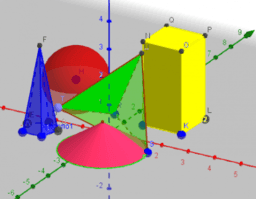 Cuerpos geométricos. Construcciones en vista 3D.
