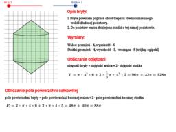 Objętość i pole powierzchni bryły obrotowej