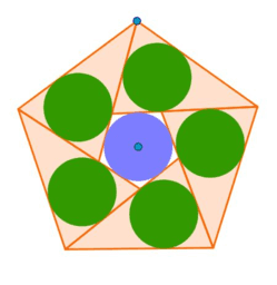 Cercles iguals en un polígon