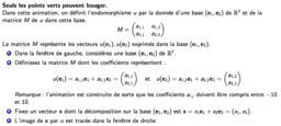 Matrices d'un endomorphisme de R²
