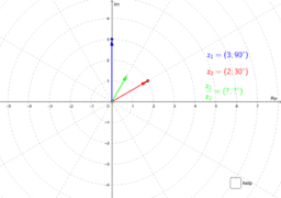 Division of complex numbers