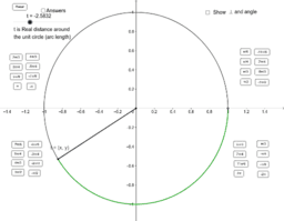 Unit Circle - Radians