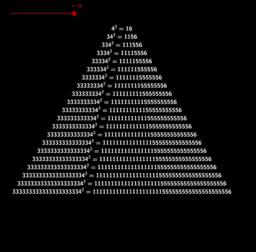pyramide de carrés