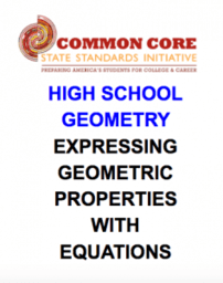 CCSS High School: Geometry (Geometric shapes)