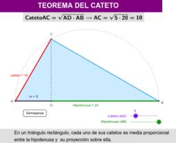 TEOREMA DEL CATETO