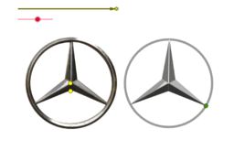 Logo de la casa Mercedes'in kopyası