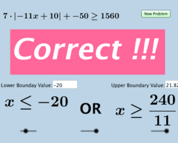 Solving Absolute Value Inequalities (Quiz) - 2