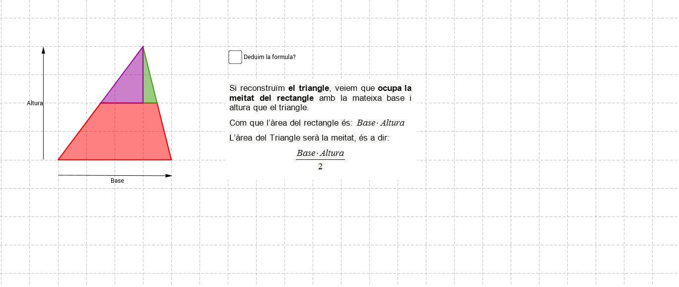 5. Àrea del triangle Press Enter to start activity
