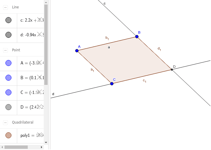 Parallelogram with 2 Opposite Pairs of Parallel Sides Press Enter to start activity