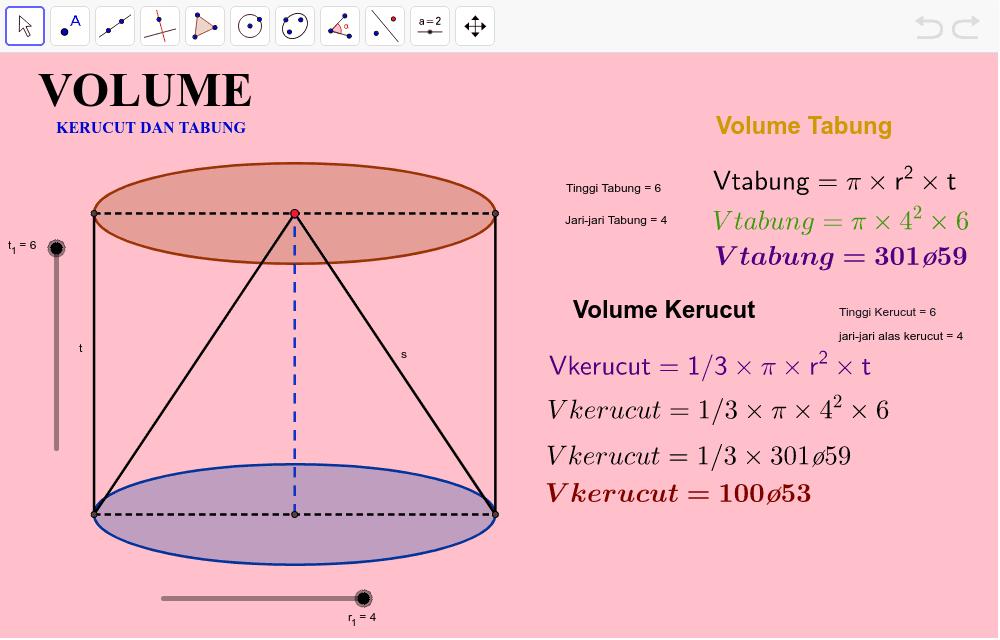 Volume Kerucut dan Tabung