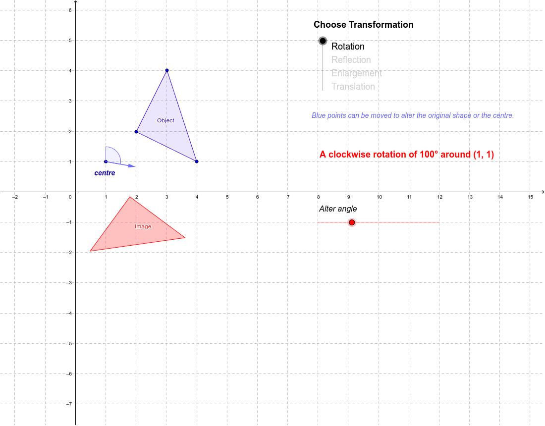Math 102- Explore Geometrical transformations  Press Enter to start activity