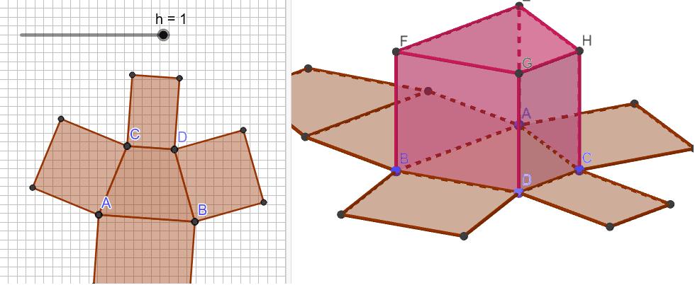 Prisma 2 des Bastelbogens Drücke die Eingabetaste um die Aktivität zu starten