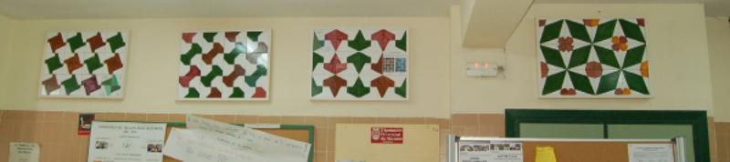 Los mosaicos decoran la entrada del IES Sant Blai de Alicante