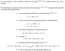Tangenti condotte alla parabola da un punto