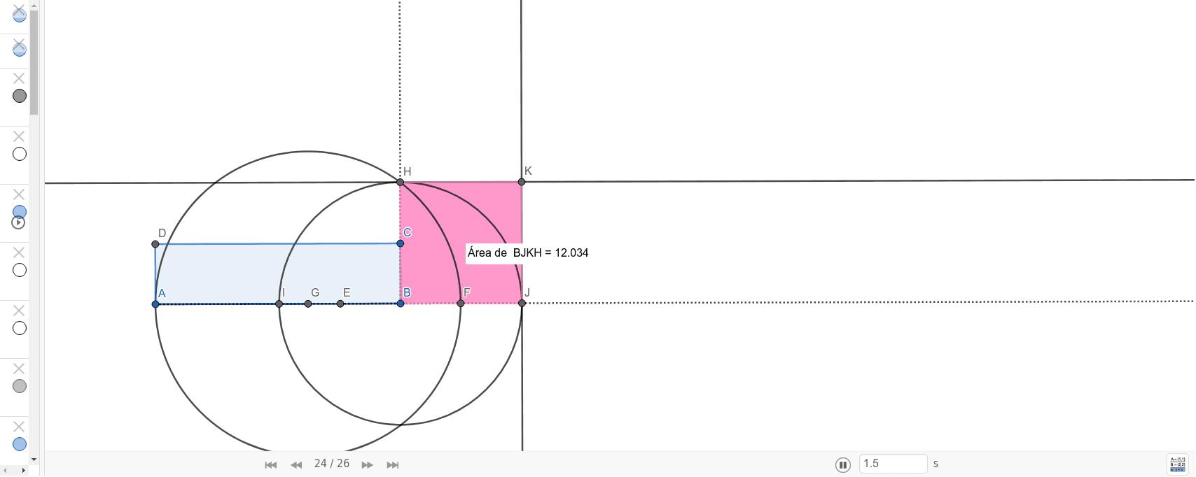 La cuadratura de una figura plana es la construcción con regla y compás de un cuadrado con la misma superficie de la figura plana original.