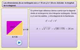 Problemas de aplicación del teorema de pitágoras.
