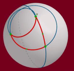 Kugel-Dreiecke oder Kreis-Dreiecke