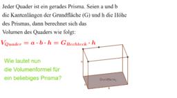 Volumen von Prismen und Pyramiden