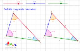 Definitie congruente driehoeken