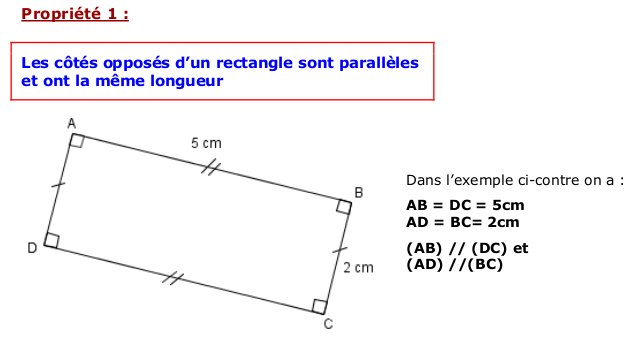 a) Le rectangle