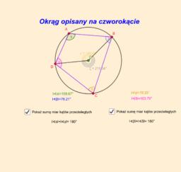 okrąg opisany na czworokącie