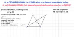Rombo: teorema inverso I