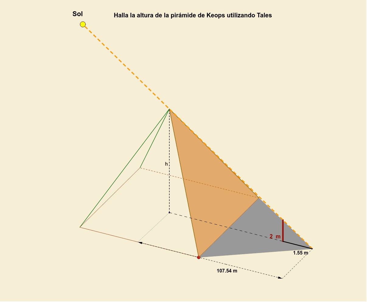 Mou el punt groc (representa el Sol) per variar les ombres i el punt vermell per girar la imatge. Premeu Enter per iniciar l'activitat