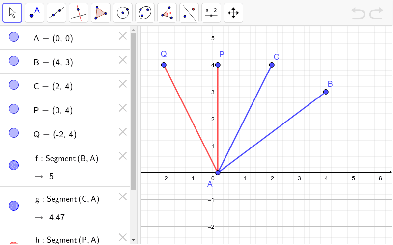 Is angle CAB congruent to angle PAQ? (don't just measure it!!) Find an argument.