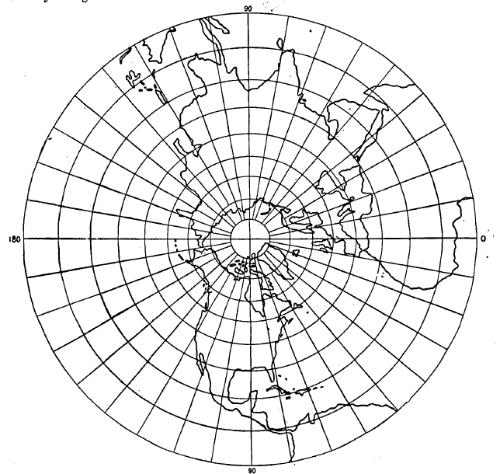 stereografische azimut projectie