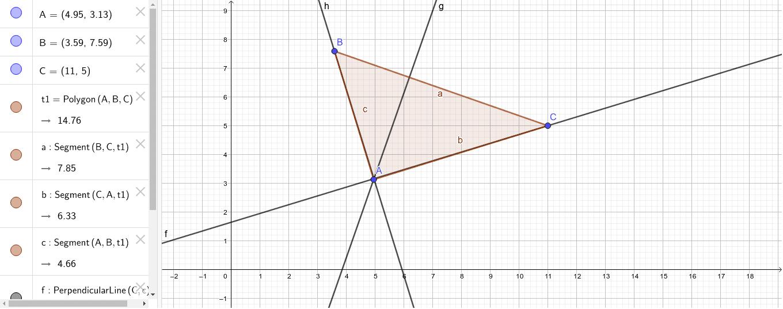 El ortocentro de un triángulo rectángulo es el vértice correspondiente al ángulo recto..