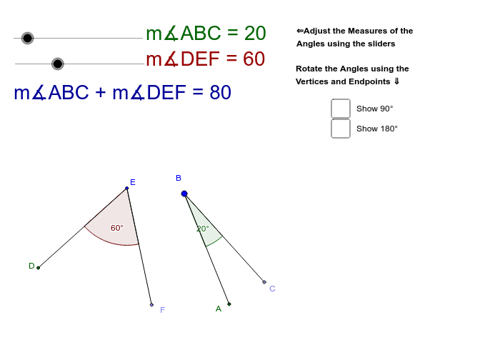Angle Relationships - Supplementary and Complementary Press Enter to start activity