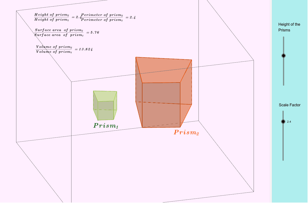 Scale Factors of Similar Polyhedra Press Enter to start activity
