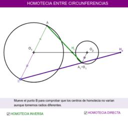 HOMOTECIA ENTRE CIRCUNFERENCIAS