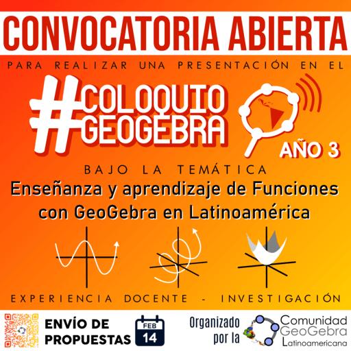 CONVOCATORIA ABIERTA Coloquio GeoGebra 2021-1