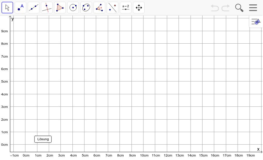Dreieck 1: A(2/1), B(10/3), C(3/9): Zeichne das Dreieck und konstruiere den Umkreis. Füge den Screenshot der Koordinaten von U im Auftrag in Teams ein! Drücke die Eingabetaste um die Aktivität zu starten