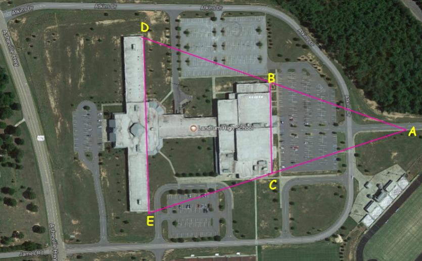 Satellite View of Landrum High School