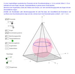 Kugel in einer Pyramide