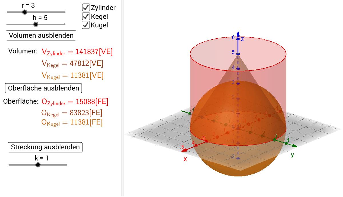 Fein Oberfläche Und Volumen Von Kugeln Arbeitsblatt Ideen - Super ...
