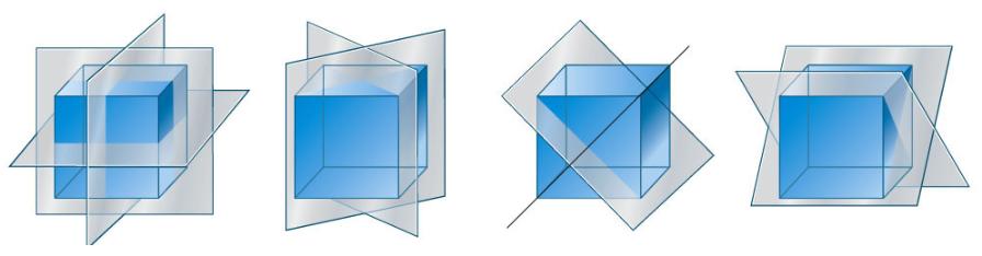 De spiegelsymmetrieën van een kubus kunnen we ook toepassen op een octaëder.