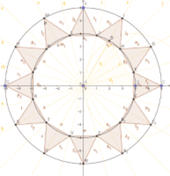 Flag of Nepal - Triangles for Sun using Angle Bisectors