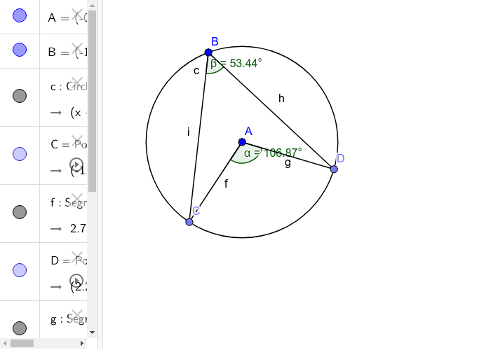 Exploring the relation between the angle subtended by an arc at centre and angle at any other point on the circle by the same arc Press Enter to start activity