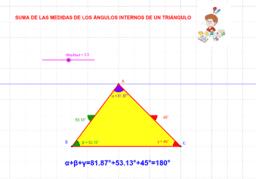 SUMA DE LOS ANGULOS INTERIORES DE UN TRIANGULO