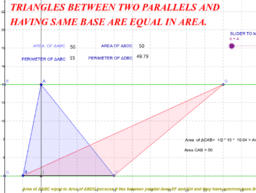 Triangles betn parallels ,having same base are equal in area