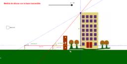 Calcular alturas con el método de la doble tangente