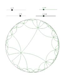 Mosaics hiperbòlics amb gir i translació