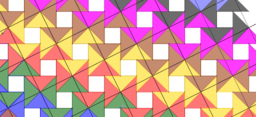 Pythagorean Theorem by Tessellation # 36 Tiling