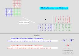 Matrizenmultiplikation (Falk-Schema)