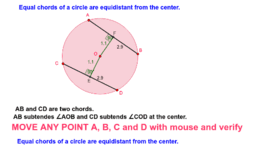 Equal chords subtend equal angles at the center.